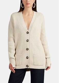 Helmut Lang Women's Distressed Wool Oversized Cardigan