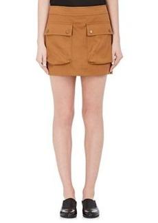 Helmut Lang Women's Double-Faced Cotton-Linen Miniskirt