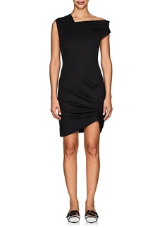 Helmut Lang Women's Draped-Neck Stretch-Twill Dress