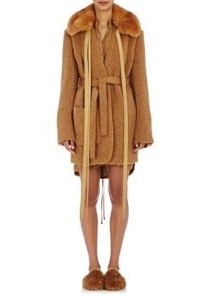 Helmut Lang Women's Faux-Fur-Collar Shaggy Coat