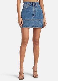 Helmut Lang Women's Femme Denim High-Rise Miniskirt