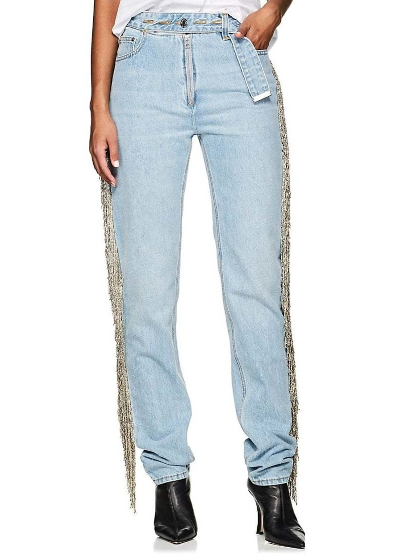 Helmut Lang Women's Fringed Straight Jeans