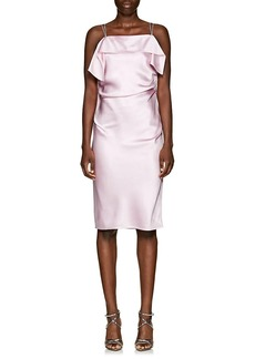 Helmut Lang Women's Gathered Satin Midi-Dress