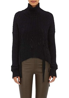 Helmut Lang Women's Grosgrain-Accented Funnel Neck Sweater