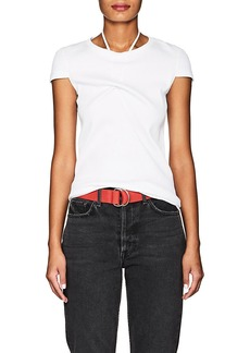 Helmut Lang Women's Halter-Tie Rib-Knit Cotton T-Shirt