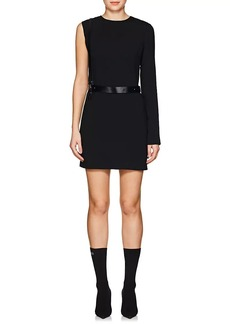 Helmut Lang Women's Harness-Belt Crepe Minidress
