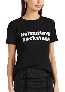 "Helmut Lang Women's ""Helmut Lang Backstage"" Cotton Mesh T-Shirt"