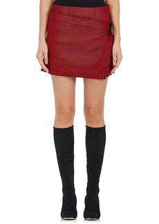 Helmut Lang Women's Houndstooth Wool-Blend Miniskirt
