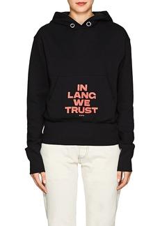 "Helmut Lang Women's ""In Lang We Trust"" Cotton Hoodie"