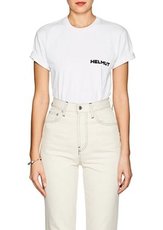 "Helmut Lang Women's ""In Lang We Trust"" Cotton T-Shirt"