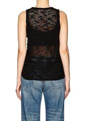 Helmut Lang Women's Irregular-Knit Silk Tank Top