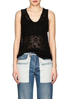 Helmut Lang Women's Irregular-Knit Silk Tank Top