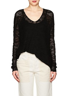 Helmut Lang Women's Irregular-Knit Silk Top