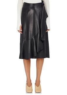 Helmut Lang Women's Lambskin Wrap Skirt