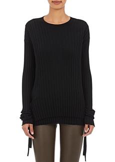 Helmut Lang Women's Layered Merino Wool Rib-Knit Sweater