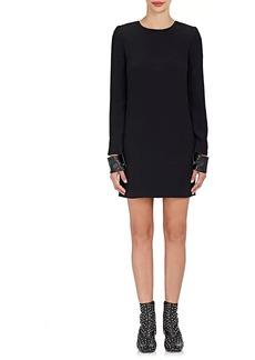 Helmut Lang Women's Leather-Cuff Compact Knit Minidress