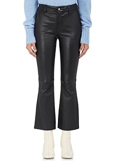 Helmut Lang Women's Leather Flared Pants