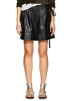Helmut Lang Women's Leather High-Rise Shorts