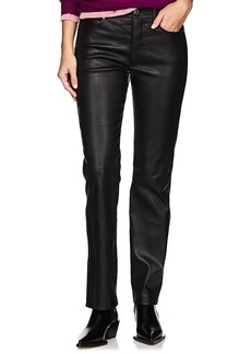 Helmut Lang Women's Leather Straight Jeans