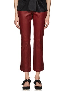 Helmut Lang Women's Leather Straight Trousers