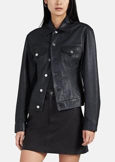 Helmut Lang Women's Leather Trucker Jacket