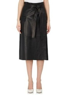 Helmut Lang Women's Leather Wrap Skirt