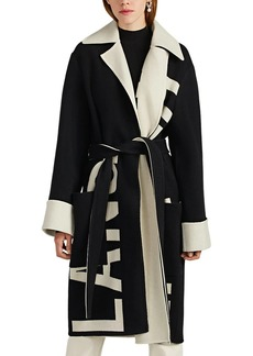 Helmut Lang Women's Logo-Intarsia Wool Felt Coat