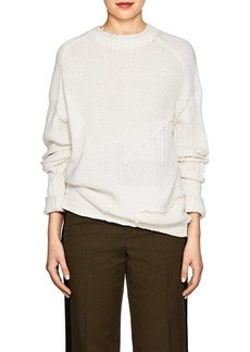 Helmut Lang Women's Mixed-Knit Cotton-Wool Sweater