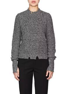 Helmut Lang Women's Mélange Cotton-Blend Sweater