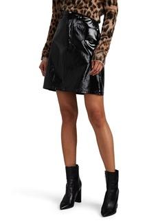 Helmut Lang Women's Patent Leather High-Rise Miniskirt