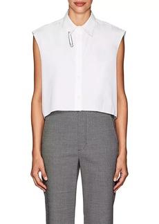 Helmut Lang Women's Pin-Detail Cotton Crop Shirt