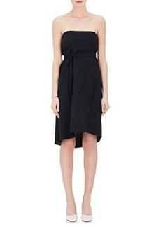 Helmut Lang Women's Pinstriped Twill Wrap Skirt
