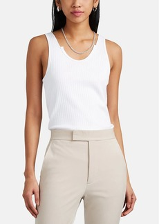 Helmut Lang Women's Rib-Knit Cotton Tank