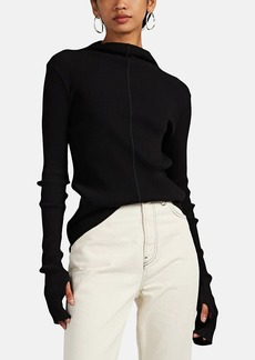 Helmut Lang Women's Rib-Knit Mock-Turtleneck Top