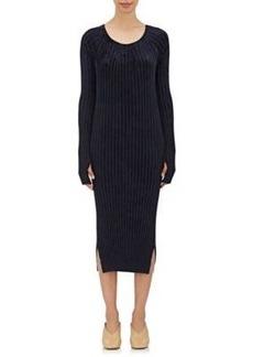 Helmut Lang Women's Ribbed Chenille Midi-Dress