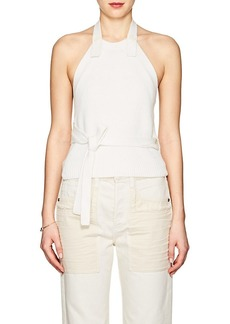 Helmut Lang Women's Ribbed Cotton Halter Top
