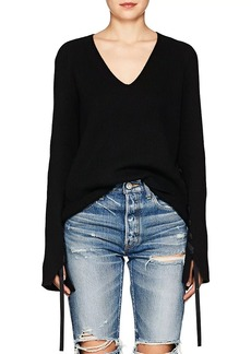 Helmut Lang Women's Ribbon-Sleeve Wool-Cashmere Sweater