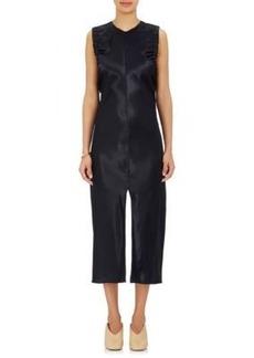 Helmut Lang Women's Ruched-Armhole Satin Midi-Dress