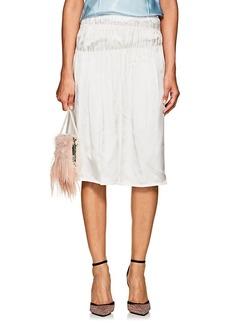 Helmut Lang Women's Ruched Silky Twill Slip Skirt