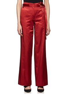 Helmut Lang Women's Satin Belted Wide-Leg Trousers