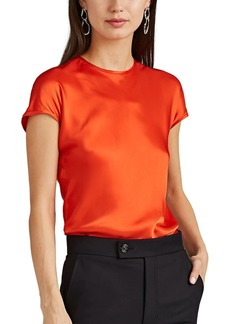 Helmut Lang Women's Satin Cap-Sleeve Top