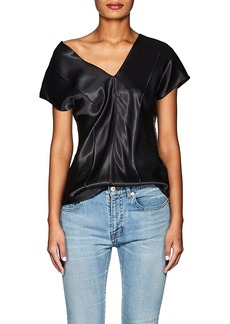 Helmut Lang Women's Satin V-Neck Top