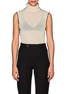 Helmut Lang Women's Sheer Mesh Turtleneck Top