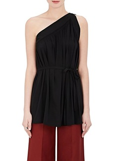 Helmut Lang Women's Silk-Blend Crêpe De Chine One-Shoulder Top