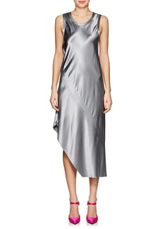 Helmut Lang Women's Silk Satin Asymmetric Midi-Dress