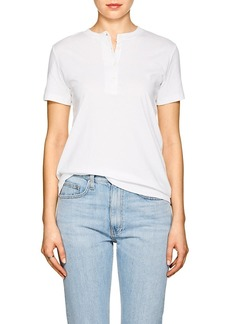 Helmut Lang Women's Slashed-Hem Cotton Henley