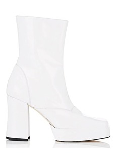 Helmut Lang Women's Spazzolato Leather Platform Ankle Boots