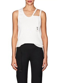 Helmut Lang Women's Stretch-Cotton Cutout-Shoulder Tank