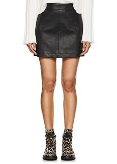 Helmut Lang Women's Stretch-Leather Miniskirt