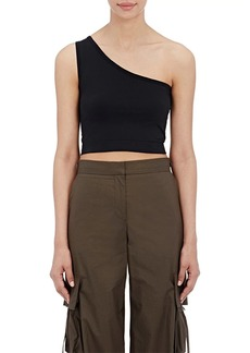 Helmut Lang Women's Stretch-Microfiber Crop Top